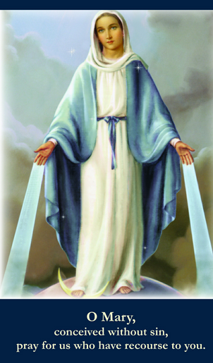 Our Lady of Grace - Miraculous Medal Consecration Prayer Card