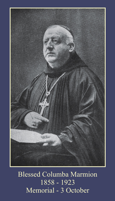 Blessed Columba Marmion Prayer Card