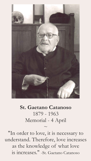 St. Gaetano Catanoso Prayer Card