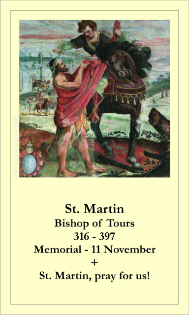 St. Martin of Tours Prayer Card