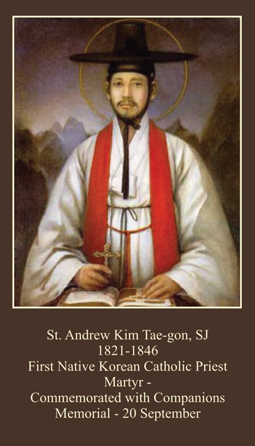 St. Andrew Kim Taegon / Korean Martyrs Holy Card