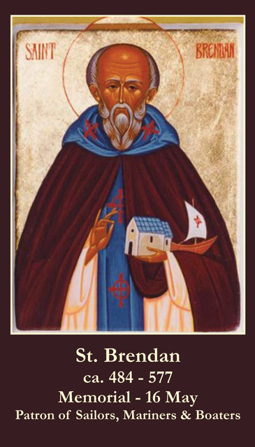 St. Brendan Prayer Card