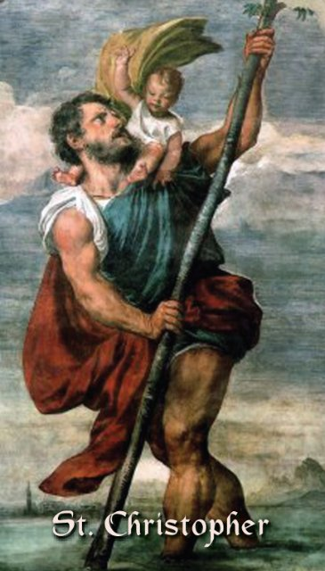 St. Christopher Prayer Card