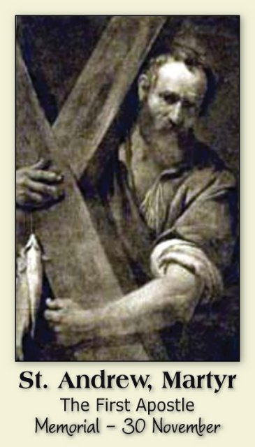 St. Andrew Prayer Card