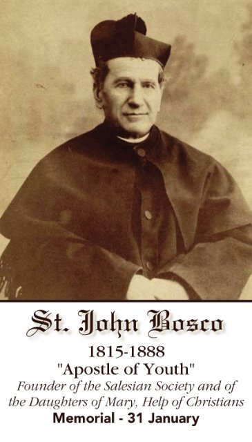 St. John Bosco Prayer Card