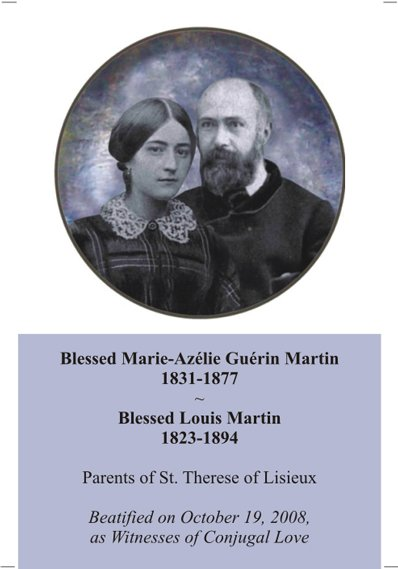 Blesseds Luis & Zelie Martin Prayer Card