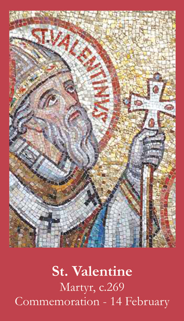 St. Valentine Prayer Card