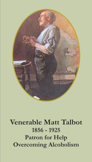 Venerable Matt Talbot Prayer Card (Patron Against Alcoholism)