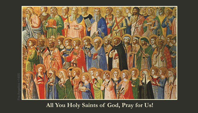 All Saints Prayer Card