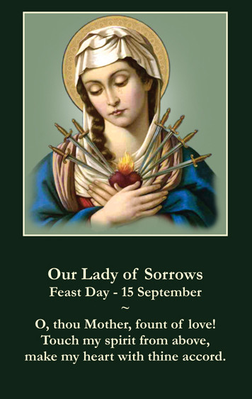 Immaculate - Sorrowful Heart of Mary Prayer Card