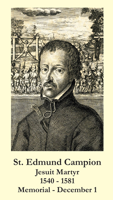 St. Edmund Campion Prayer Card