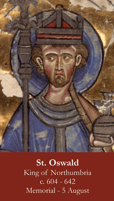 St. Oswald Prayer Card