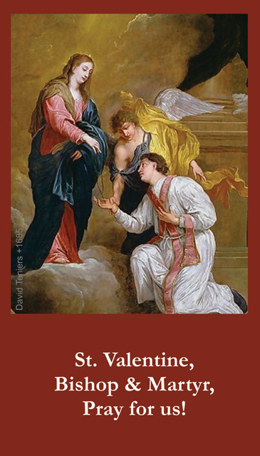 St. Valentine's Day Exchange Prayer Card