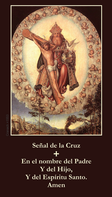 *SPANISH* Sign of the Cross Prayer Card
