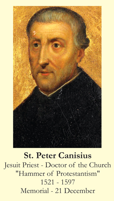 St. Peter Canisius Prayer Card