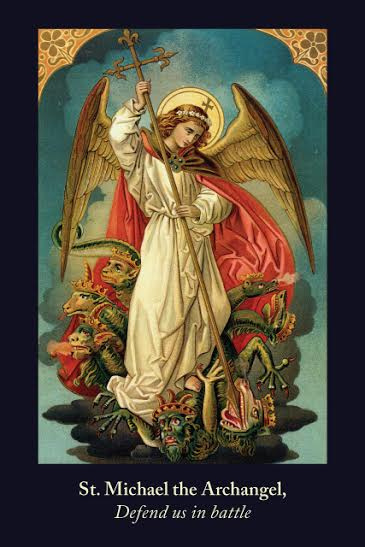 St. Michael the Archangel Defend Us In Battle Prayer Card***JUMBO***