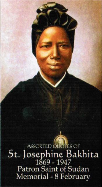 St. Josephine Bakhita Prayer Card