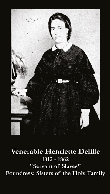 Venerable Henriette Delille Prayer Card