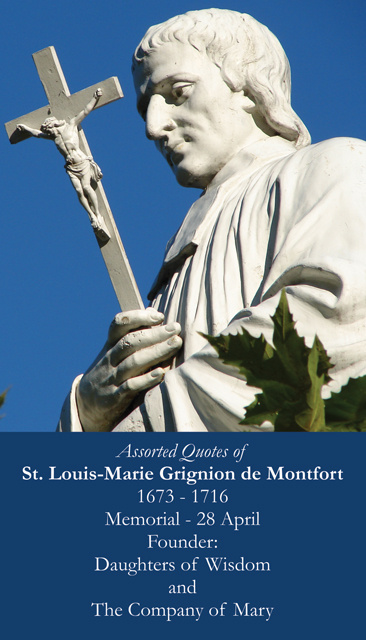 St. Louis de Montfort Prayer Card