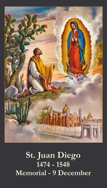 *BILINGUAL* St. Juan Diego Prayer Card (English/Spanish)