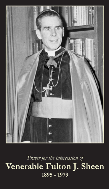 Blessed Archbishop Fulton J. Sheen Prayer Card
