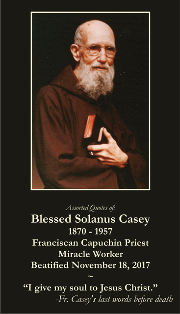 Blessed Solanus Casey Prayer Card