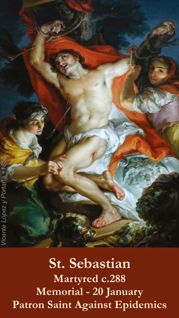 St. Sebastian Prayer Card