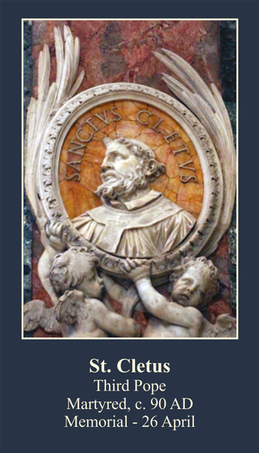 St. Cletus Prayer Card