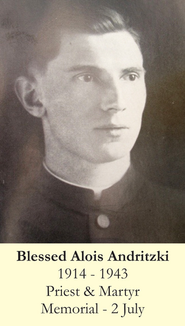 Blessed Alois Andritzki Prayer Card