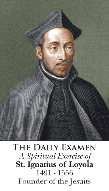 St. Ignatius of Loyola - Daily Examen Prayer Card