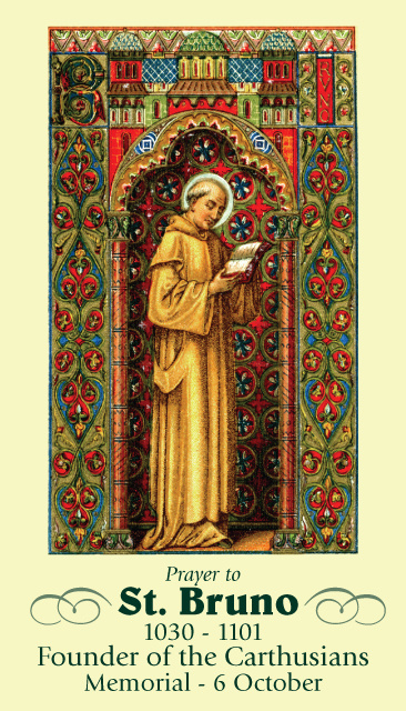 St. Bruno Prayer Card
