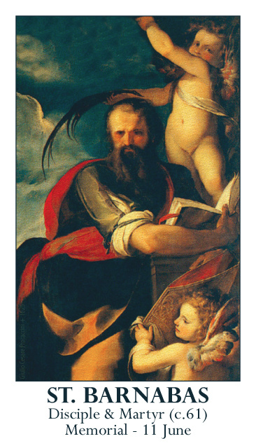 St. Barnabas Prayer Card