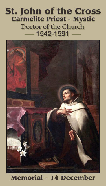 St. John of the Cross Prayer Card