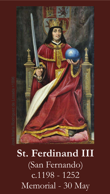 St. Ferdinand III Prayer Card