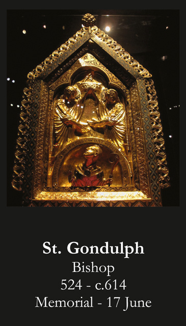 St. Gondulph Prayer Card