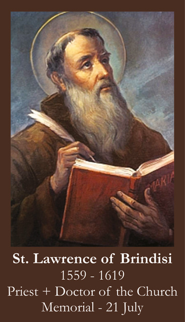 St. Lawrence of Brindisi Prayer Card