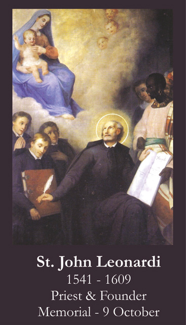 St. John Leonardi Prayer Card