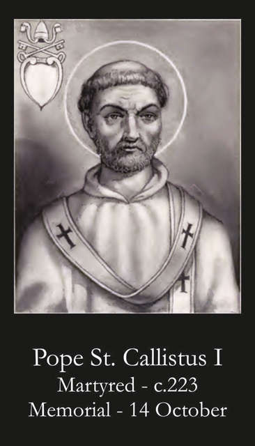 Pope St. Callistus I Prayer Card