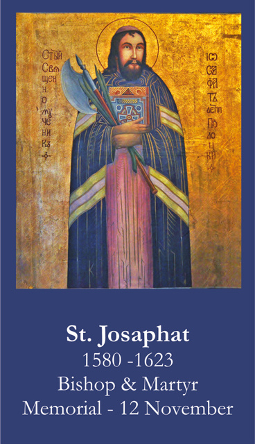 St. Josaphat Prayer Card