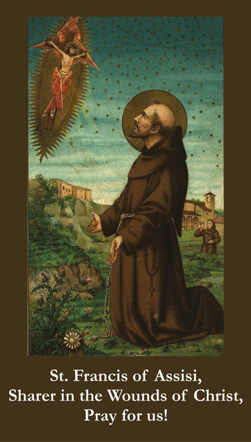 Wounds of St. Francis Holy Card