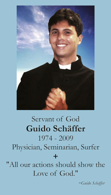 Servant of God Guido Schaffer Holy Card