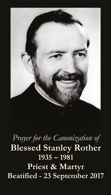 Fr. Stanley Rother Beatification Card - ENGLISH