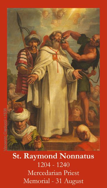 St. Raymond Nonnatus Prayer Card