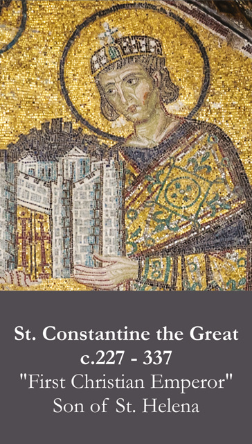 St. Constantine the Great Prayer Card