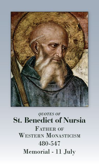 St. Benedict Prayer Card