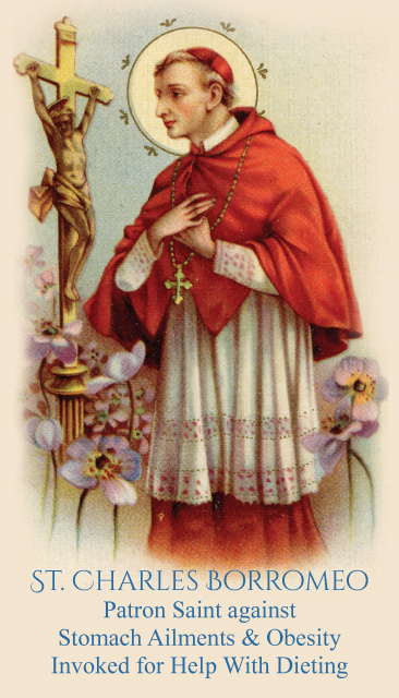 St. Charles Patron of Stomach Ailments & Obesity Prayer Card
