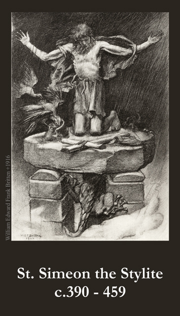 St. Simeon the Stylite Prayer Card