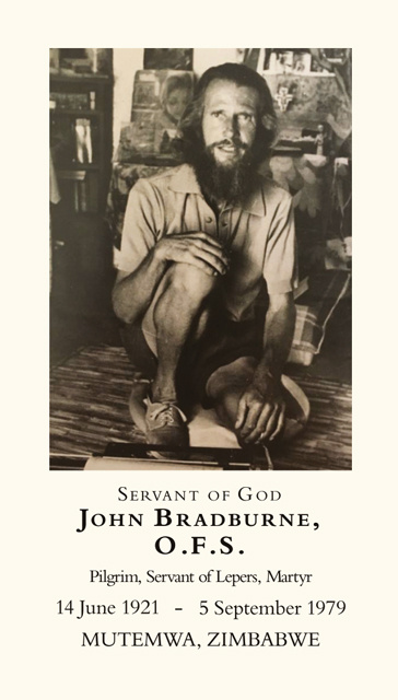 Servant of God John Bradburne Holy Card
