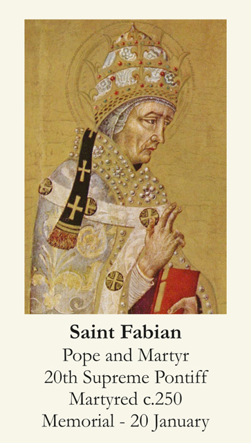 Pope Saint Fabian Prayer Card