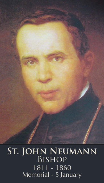 St. John Neumann Prayer Card